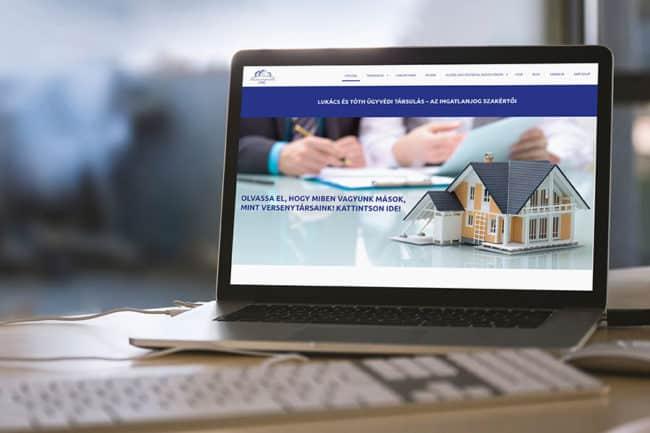 ügyvédi honlap készítés, Ingatlanjogász honlap, honlapkészítés, honlapfejlesztés, WordPress, Ügyvédhonlap