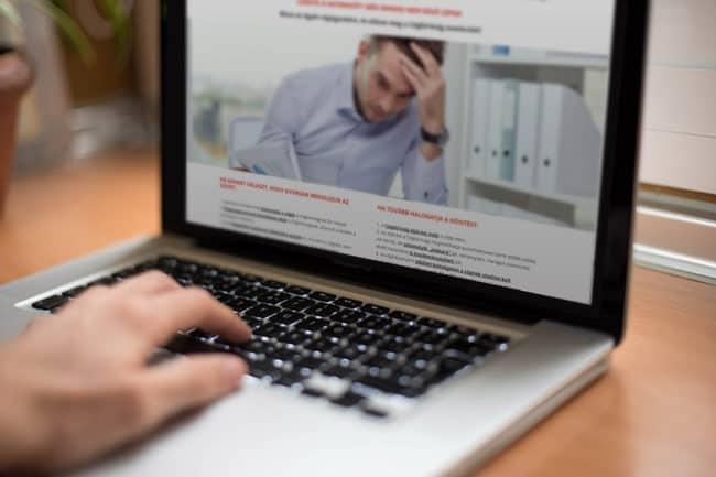Landing page készítés, cégjogász, ügyvédi honlap készítés, Ügyvédhonlap