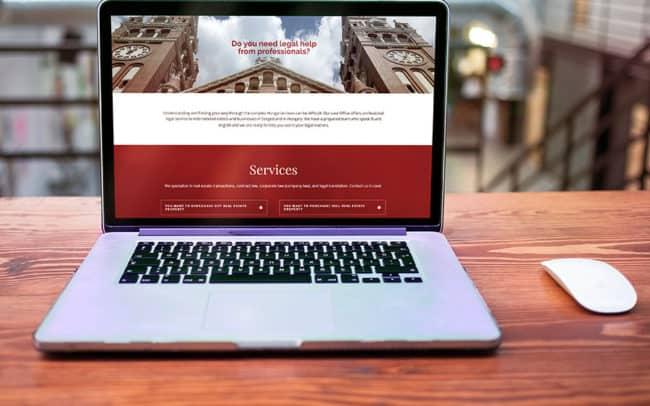 Weblap készítés ügyvédi irodáknak, Ügyvédhonlap, Szegedlawyers, ügyvédi honlap készítése