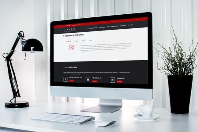 Weboldalkészítés ügyvédeknek, ügyvédi irodáknak, Ügyvédhonlap, ügyvédi honlap készítés, Tivadar Ügyvédi Iroda