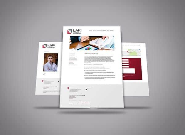 Ügyvédhonlap, ügyvédi honlap, Laki Legal, honlapfejlesztés